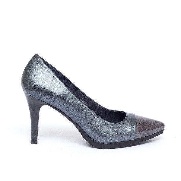 d004eb029f2 Zapato salón mujer tacón color gris plomo cómodo - Comfort women s shoes  pump heel grey plumb- miMaO Fashion Night Patent Leather