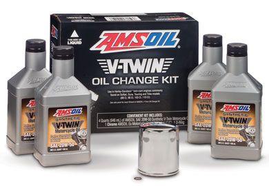 Amsoil V Twin Oil Change Kit For Harley Davidson Motorcycle 4