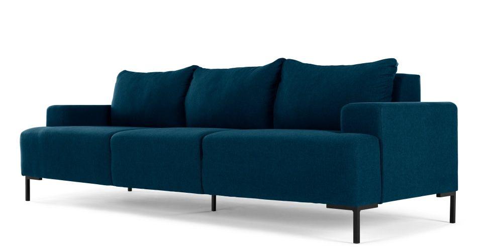 Made Essentials Oskar 3 Seater Sofa, Shetland Blue from Made.com ...