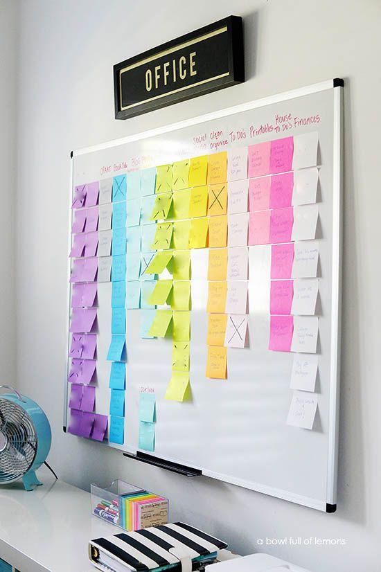 Organized Project Board via A Bowl Full of Lemons