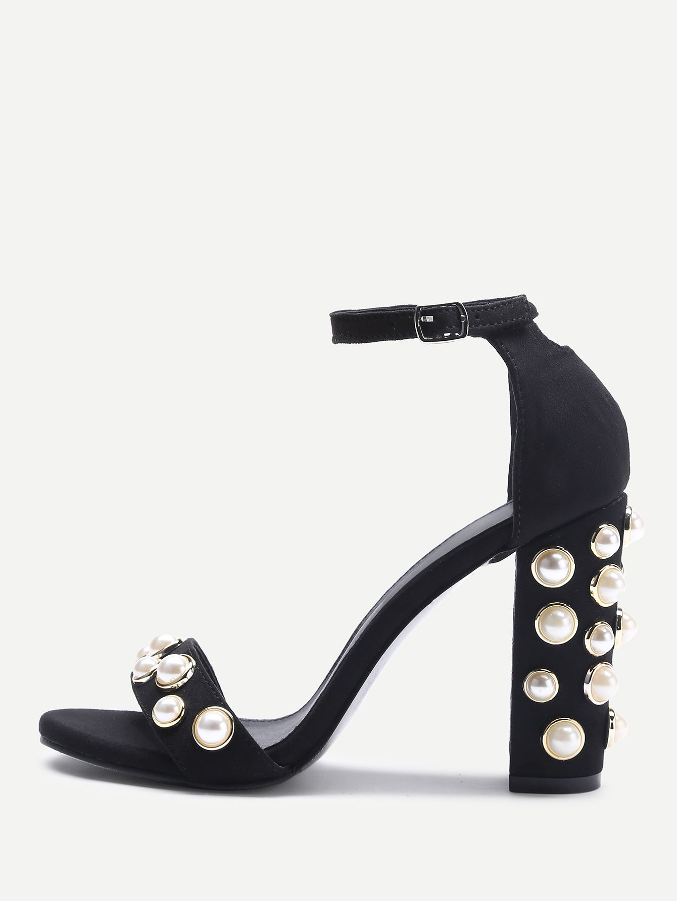 717e39d521e Shop Faux Pearl Decorated Two Part Block Heel Sandals online. SheIn offers  Faux Pearl Decorated Two Part Block Heel Sandals   more to fit your  fashionable ...