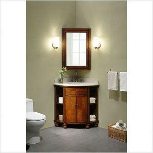 Bundle 82 Xylem Carlton 20 Corner Bathroom Vanity Set In Antique Maple Corner Sink Bathroom Corner Bathroom Vanity Small Bathroom Inspiration
