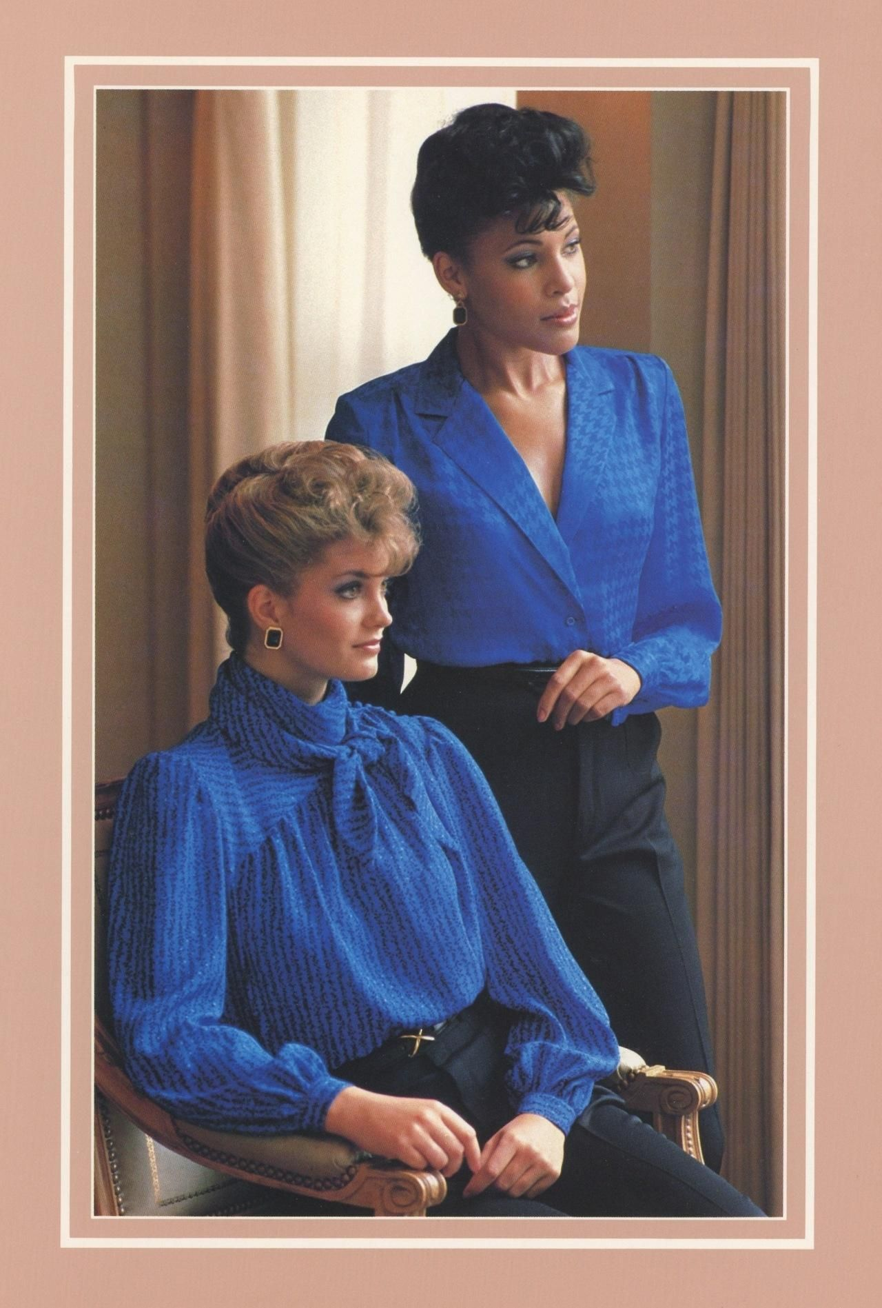 From a 1980s Nordstrom catalog. That up-do!   Totally ...