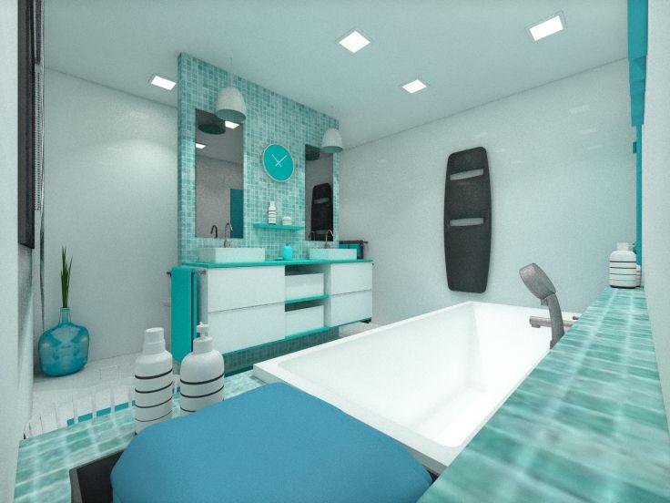 Une salle de bain peps pour les enfants