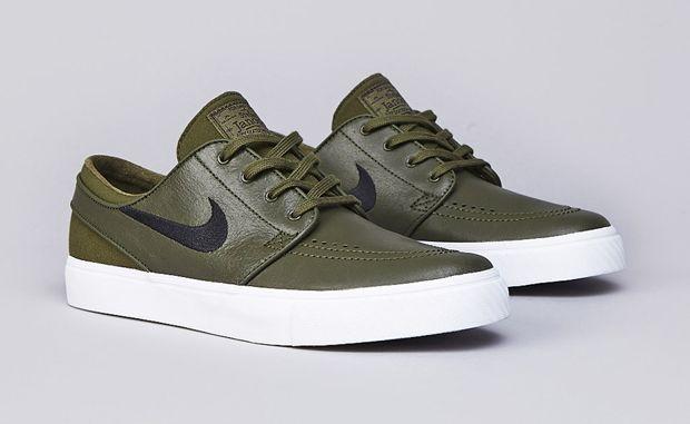 "7961840a28e6 Nike SB Zoom Stefan Janoski Leather ""Legion Green"""