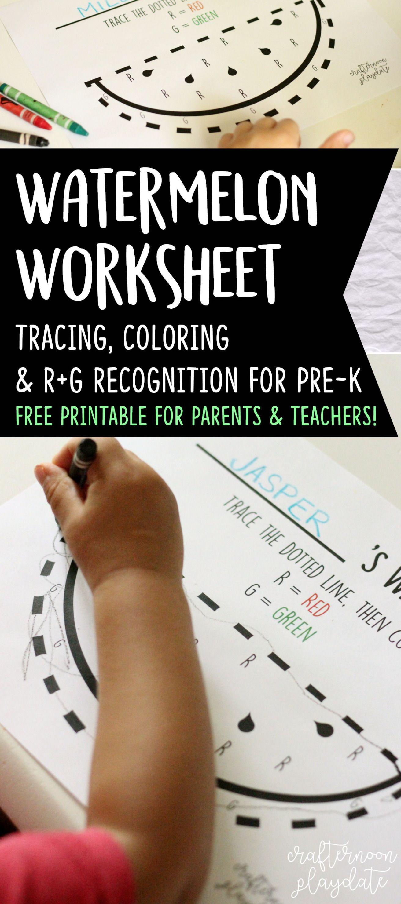 Summer Treats Watermelon Worksheet Free Printable