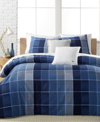 Lacoste Home Blue Albe Full Queen Comforter Set A Macy S Exclusive Style Macys Com Masculine Beddin Comforter Sets Luxury Bedding Sets Queen Comforter Sets