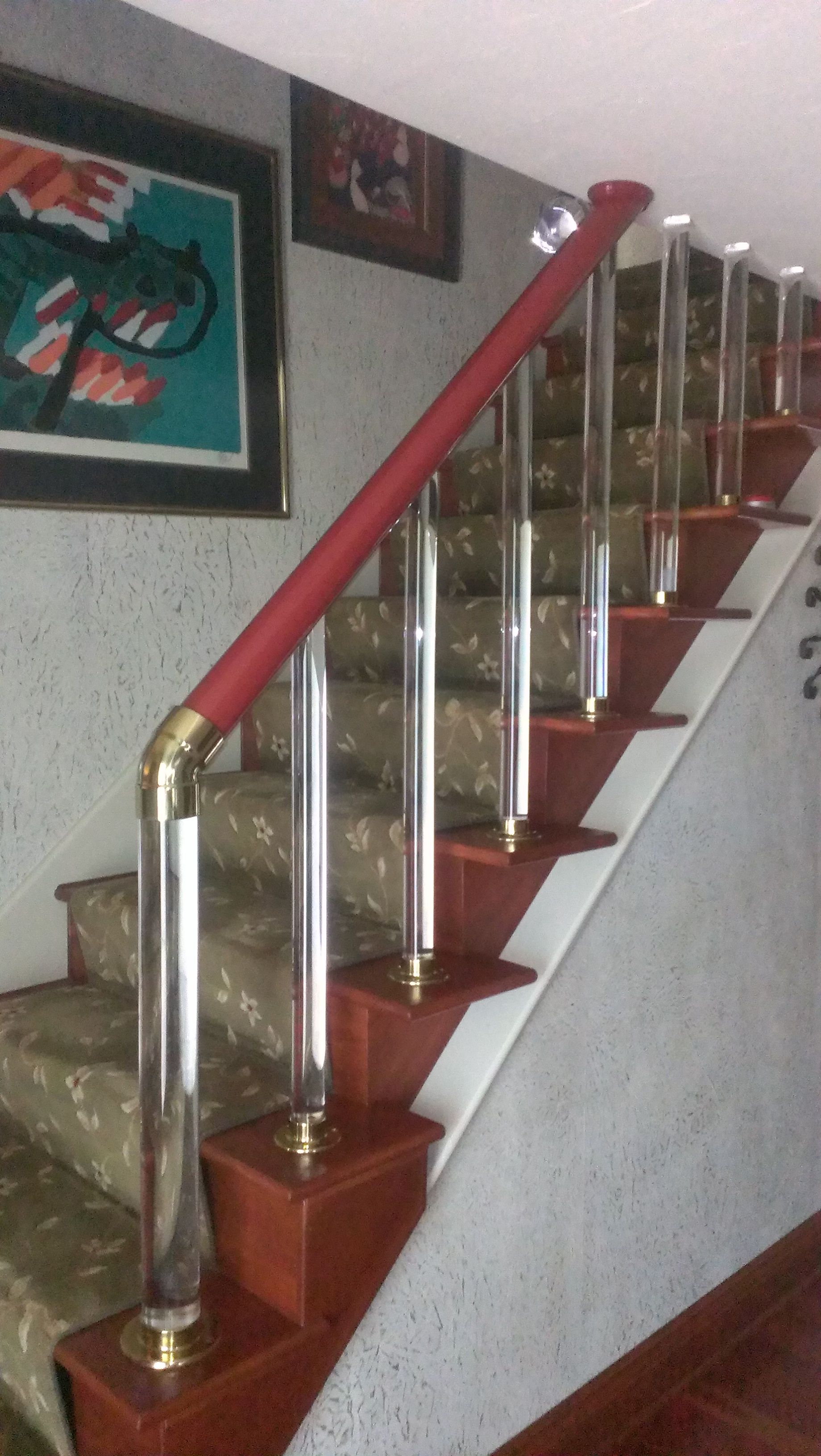 I Removed The Stairway Wall To Create Open Stair Treads With A Unique  Railing Constructed Of