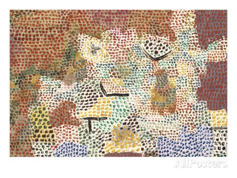 Just Like A Garden Run Wild Wie Ein Verwilderter Garten Giclee Print Paul Klee Allposters Com Paul Klee Paul Klee Art Posters Art Prints