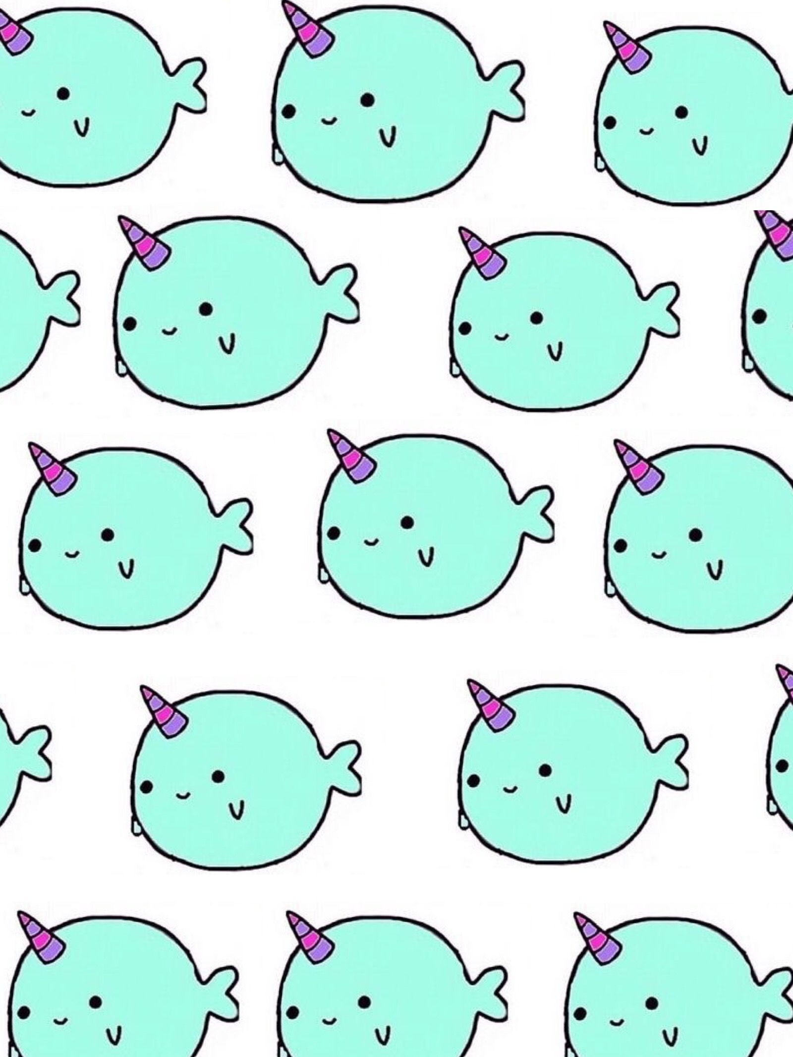 Narwhal Wallpaper Adorable Cute Narwhal Narwhal Drawing Wallpaper Iphone Cute