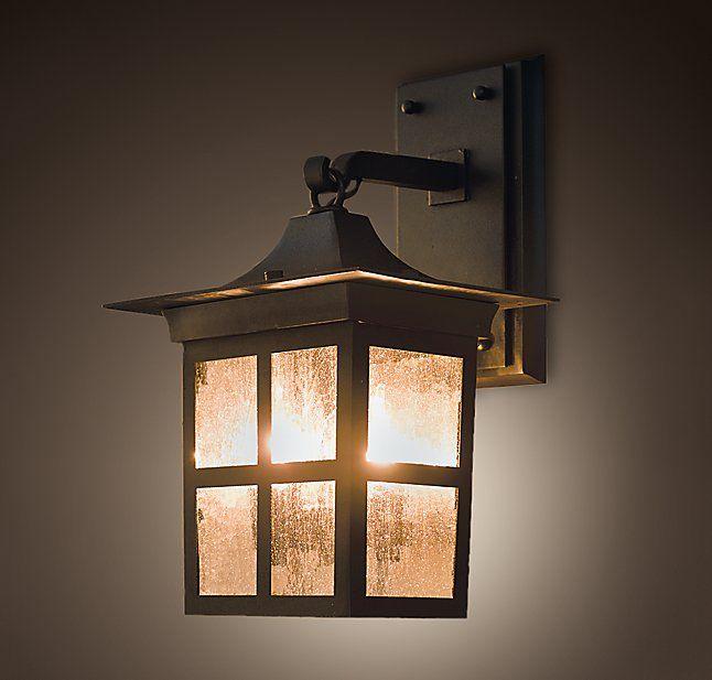 Benner sconce rh outside lighting ideasoutdoor