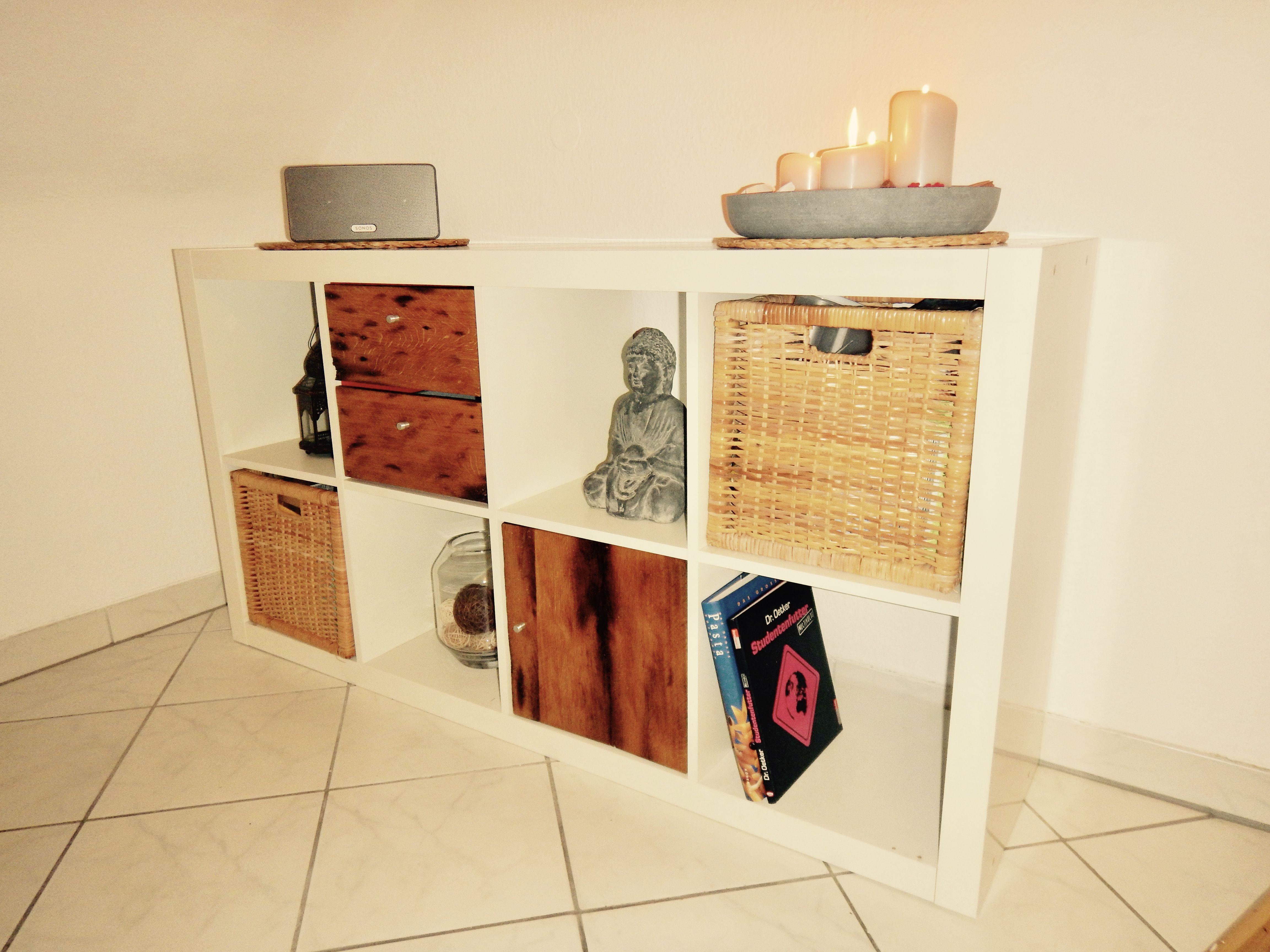 Do It Yourself Küche aufgepimptes ikea kallax expedit regal ikea mit echtholz