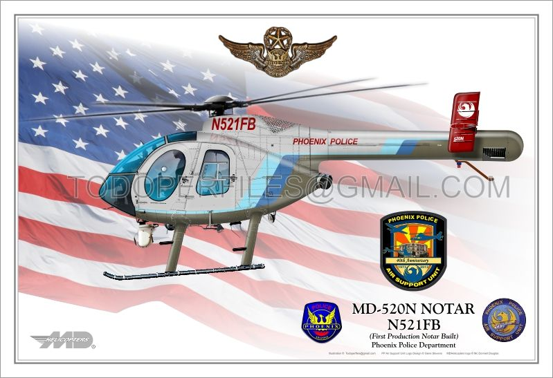 Md 500 Notar Phoenix Police N521fb Law Enforcement Police Police Department