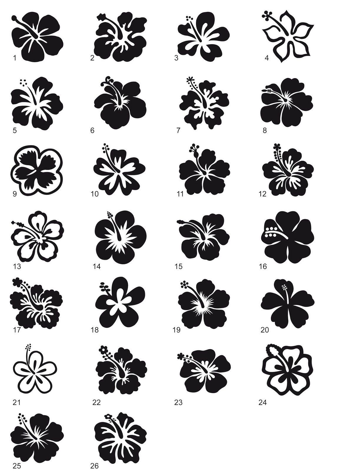 Hibiscus Flower Tattoo Stencil: Lotus Flower Tattoo Stencils
