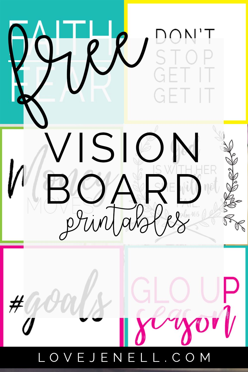 Free Vision Board Printables How To Create A Vision Board Personal