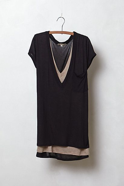 Also want. Layered Pocket Tee #anthropologie