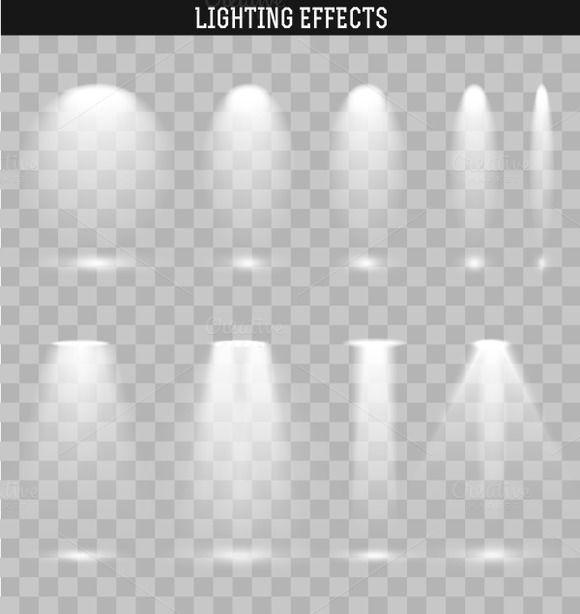 Set Light Effect Ies By Modern Vector On creativework247