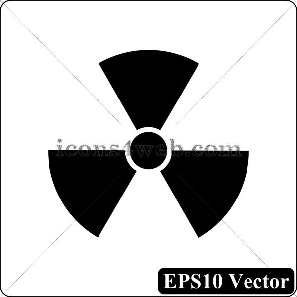 1 Awesome web icon Radiation black icon EPS10 vector Only 1 Radiation black icon EPS10 vector Radiation black button Black icon designed in high resolution Royalty free v...