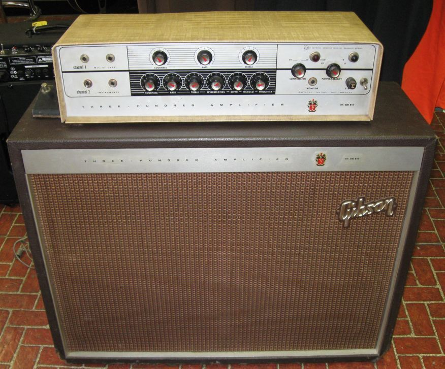 rare 1960 39 s gibson ga 300 rvt tube amp head and cabinet super 300 ya yas bass amps guitar. Black Bedroom Furniture Sets. Home Design Ideas