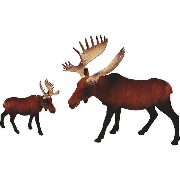 Flocked Brown Moose Set x2 Christmas Decorations Pinterest Moose - moose christmas decorations