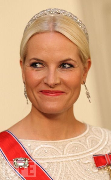 mette-marit of norway - gala dinner celebrating Queen Margrethe's 40 years on the throne