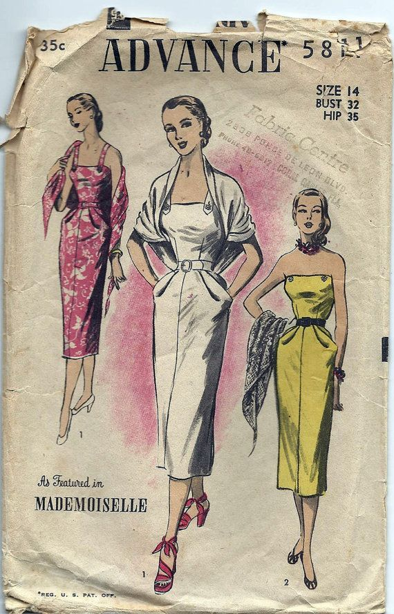 50s Sexy Wrap Around Dress Stole Pattern by AnnesVintagePatterns ...