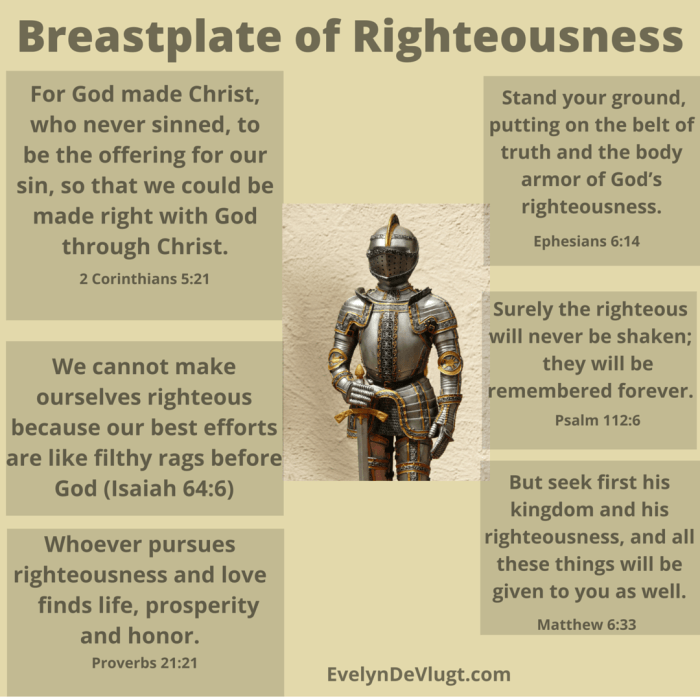The Breastplate Of Righteousness Bible Knowledge Righteousness