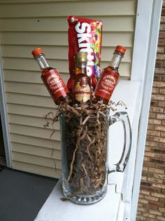 DIY Booze Bouquet. Perfect male co-worker Christmas gift | Gift ...
