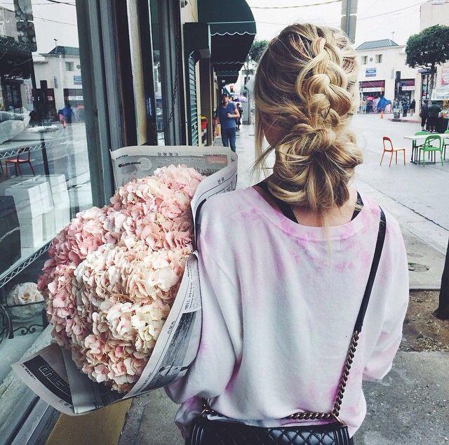 Love this! Dutch braid to bun