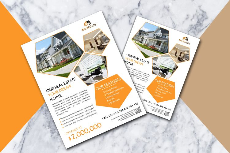 Real Estate Flyer | Print templates | Real estate flyers