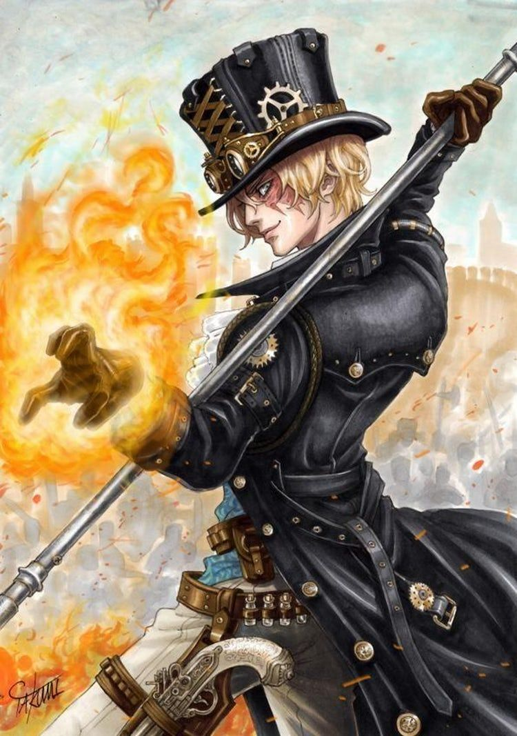 Photo of Sabo, One Piece is listed (or ranked) 4 on the list 22 Steampunk Versions Of You…