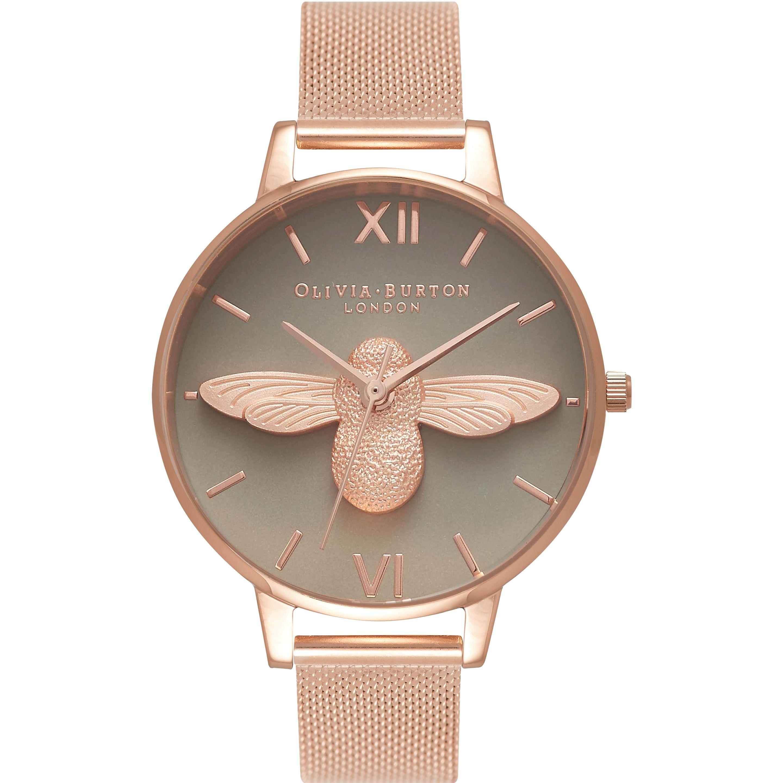 a9b6232500 Olivia Burton 3D Bee Rose Gold Mesh OB16AM117 to przede wszystkim modny zegarek  damski. Tworzywo