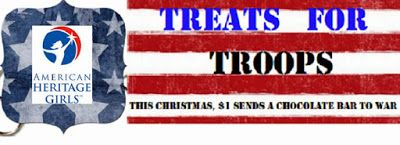 American Heritage Girls Treats For Troops