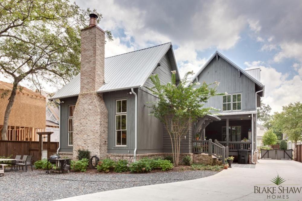 Rustic atlanta farmhouse blake shaw homes atlanta - Rustic home exterior color schemes ...