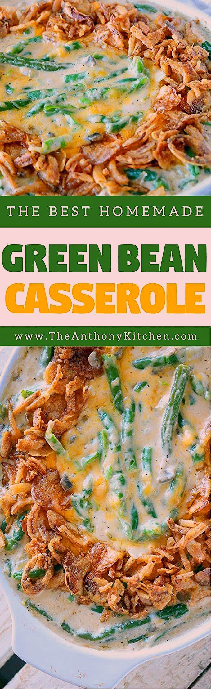 Fresh Green Bean Casserole with Cheese - Food Bloggers Central SHARING Board - #...