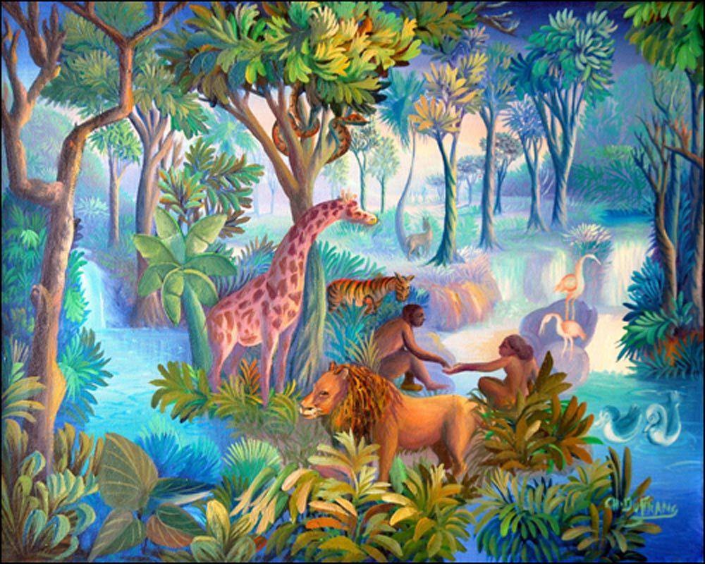 Garden of Eden by Charles Dufranc | Naïve Art 4 ...