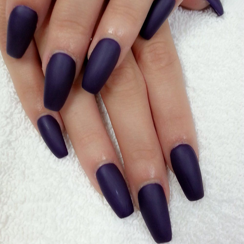 Coffin Designs Fullset Gel Color Matte Topcoatswirl Nail Designs Coffin Nails