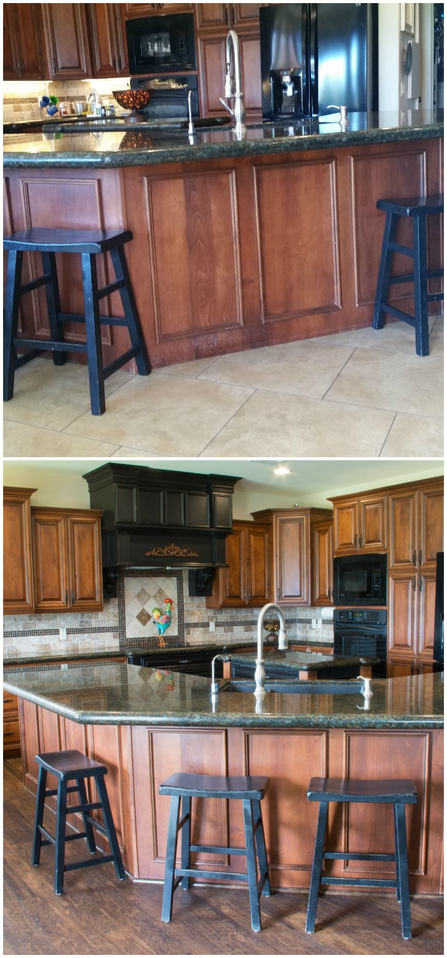 Kitchen Bar Before And After, Installing Waterproof Wood