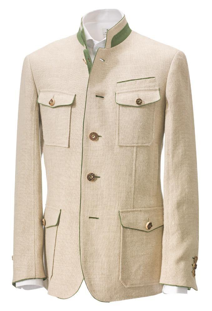"Adrian"" linen jacket with antler buttons by Kleider Manufaktur ..."