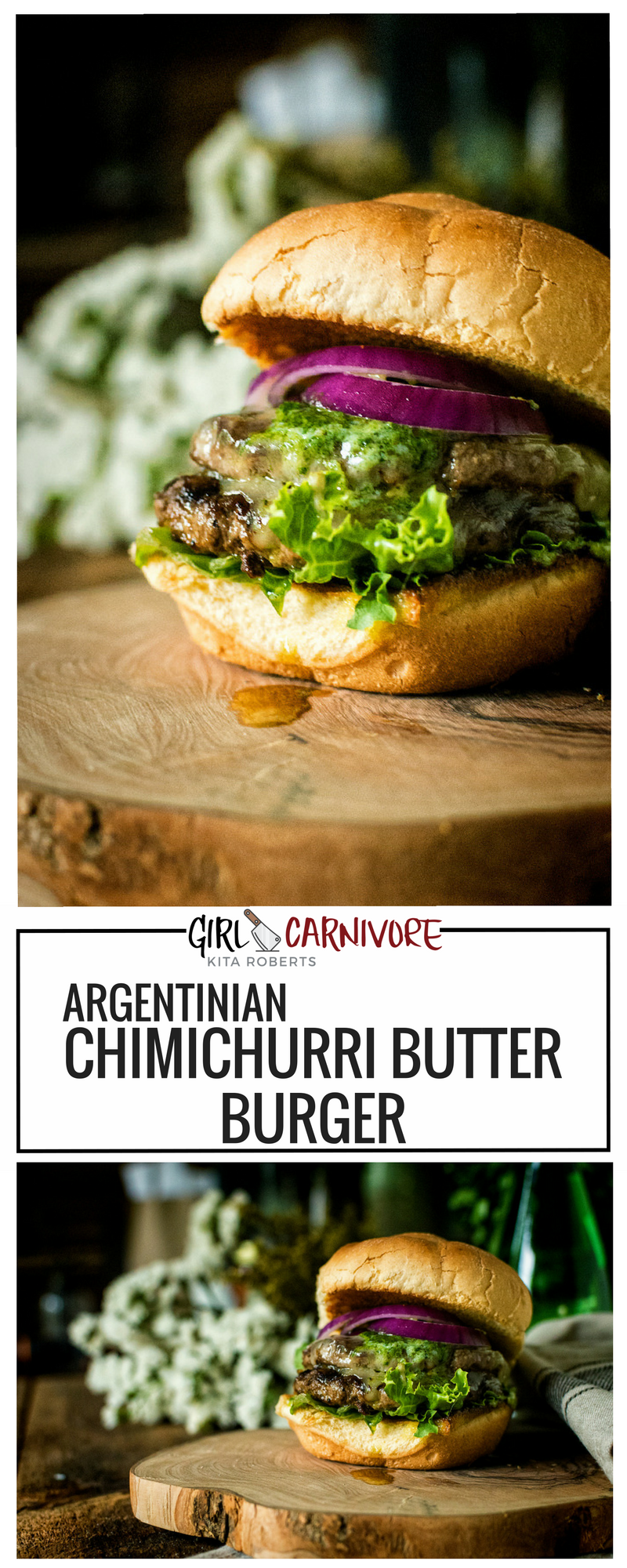 This argentinian chimichurri butter burger is simple and yet amazing this argentinian chimichurri butter burger is simple and yet amazing in its flavors plus forumfinder Gallery