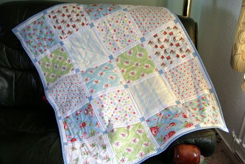 Cath Kidston patchwork baby quilt, cot quilt