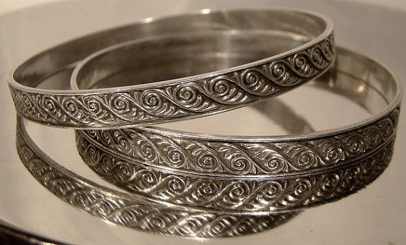 de70d41aa13 Pair Vintage 1930s40s Sterling Silver Bangle by FionaKennyAntiques ...
