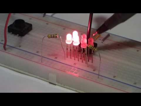 Sourcing And Sinking Current Using Leds And A Trimpot To Imitate Ac Alte Electronics Projects Electronics Dc Circuit