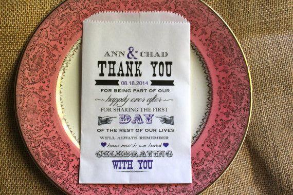 Lovely Wedding Candy Buffet  Bag-Wedding Favor Bag-Personalized Favor Bag on Etsy, $12.50