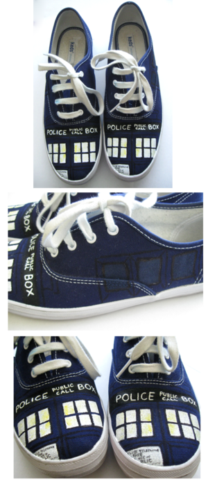 Tardis shoes! I've seen some before, but these are my favorites so far for some reason... :)