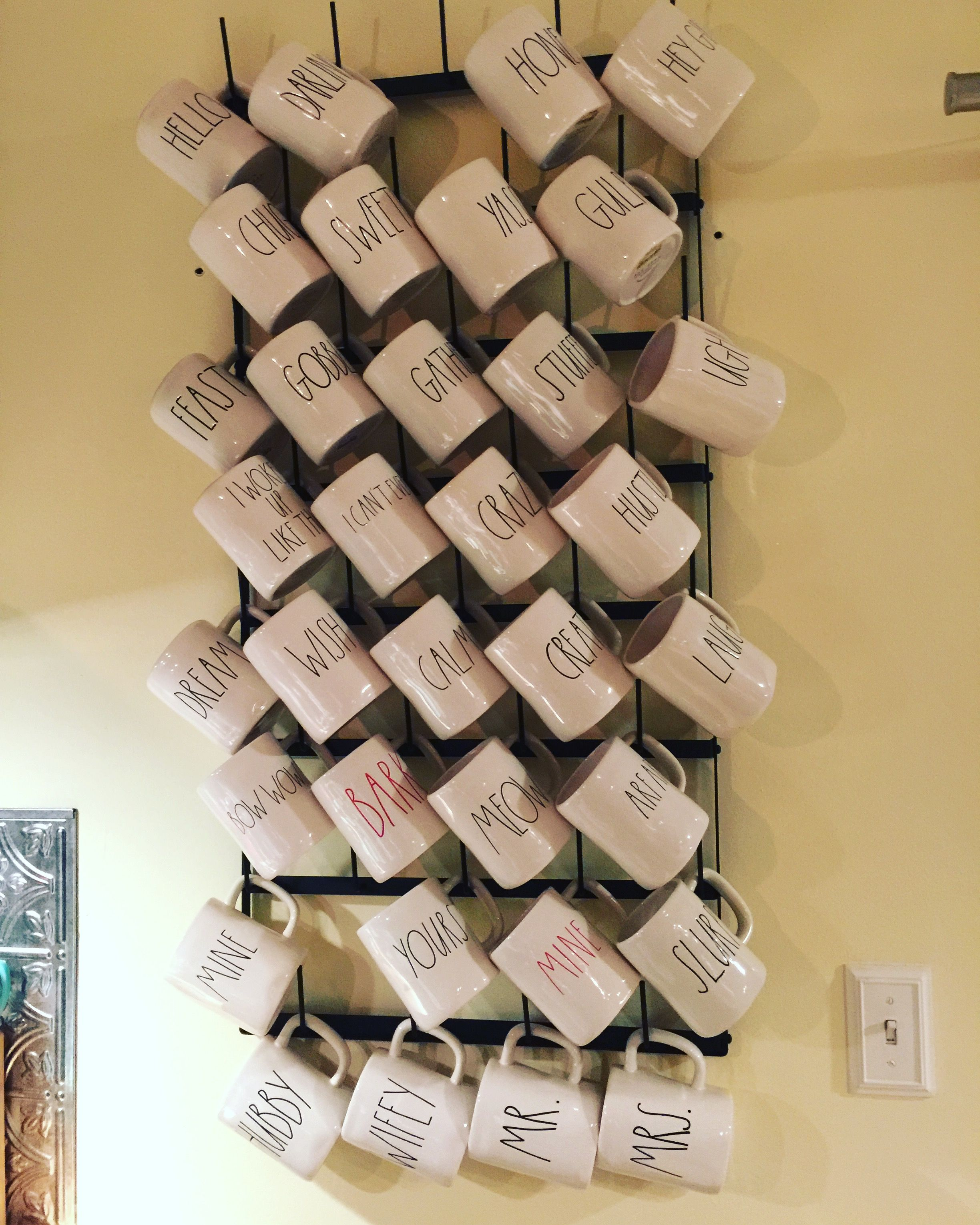 Rae Dunn Mug Display On The Magnolia Market Cups For Days