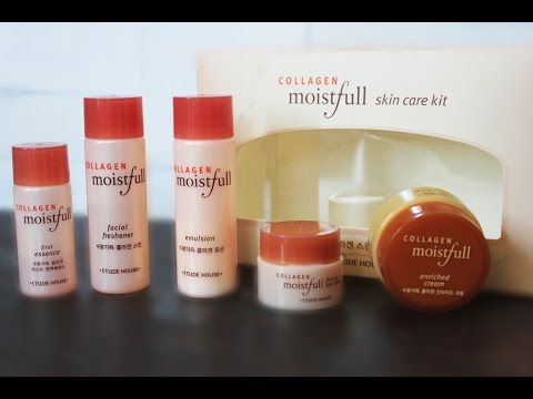 Step By Step Using Collagen Moistfull Skin Care Kit Etude House Skin Care Kit Moistfull Collagen Collagen