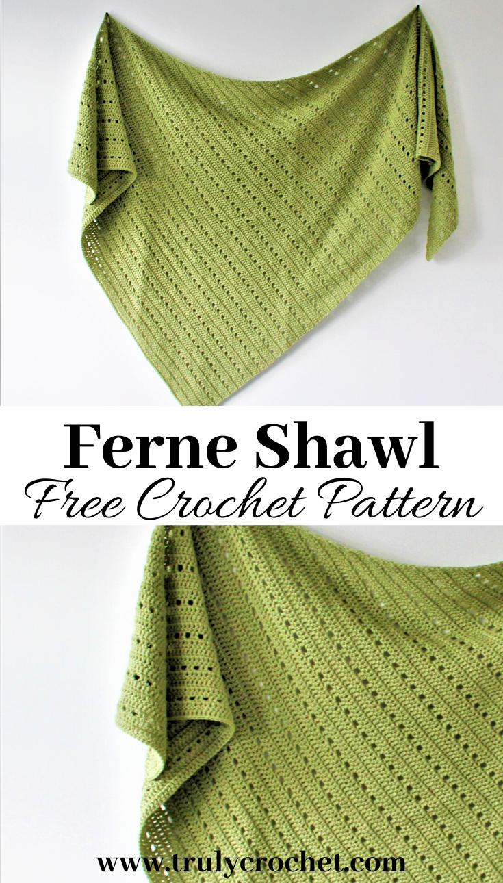 Ferne Shawl - Free Crochet Pattern - Truly Crochet