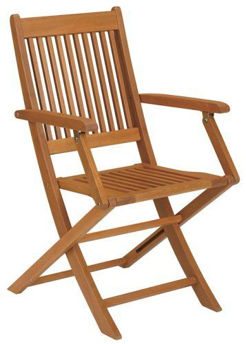 Strathwood Basics Folding Hardwood Armchair, Set of 2 by Strathwood ...