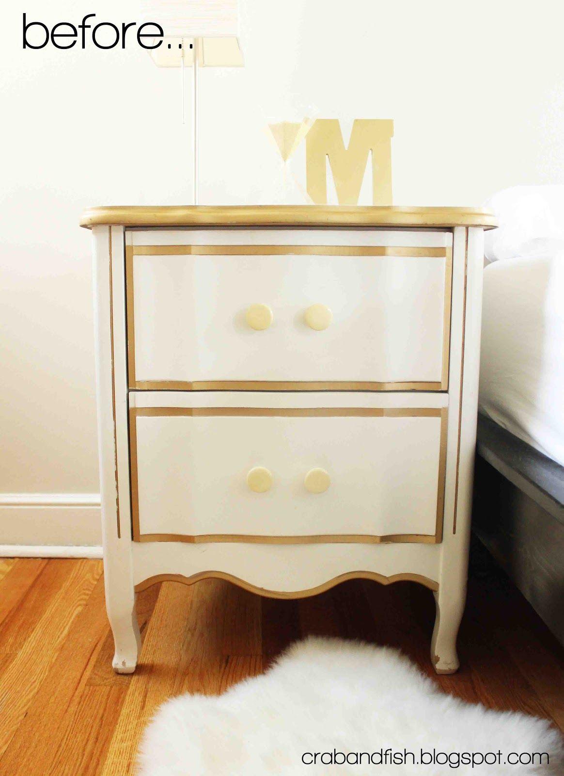 Diy gilded trim nightstand a darling nursery pinterest